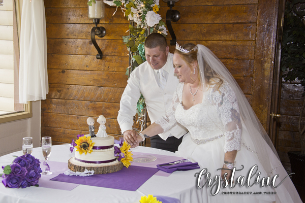 Crystal Rose - cutting the cake