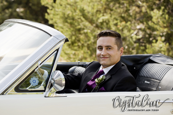 Willow Ridge Manor - Groom in a Mustang